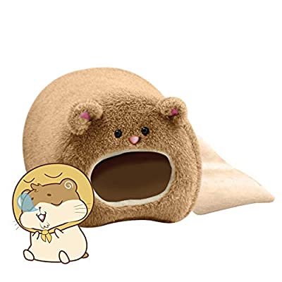 Fliyeong 1 Pcs Hamsters Cotton Bed Cute Bear Shape Warm Soft Hamster House for Small Pet Supplies(Coffee) by Fliyeong
