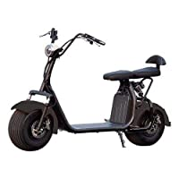 Harley Citycoco electric scooter with removeable Battery Matte Black color