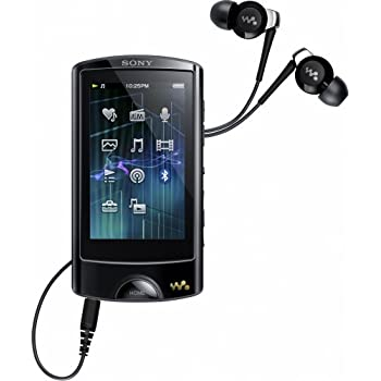 Sony Walkman NWZ-A865B Walkman MP3-/Video-Player (16 GB, 7,1 cm (2,8 Zoll) Touchscreen, USB, Bluetooth, FM-Tuner) schwarz