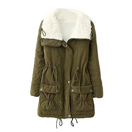 JURTEE Damen 2019 Jacken, Frauen Warme Lange Mantel Pelzkragen Jacke Winter Parka Outwear ()