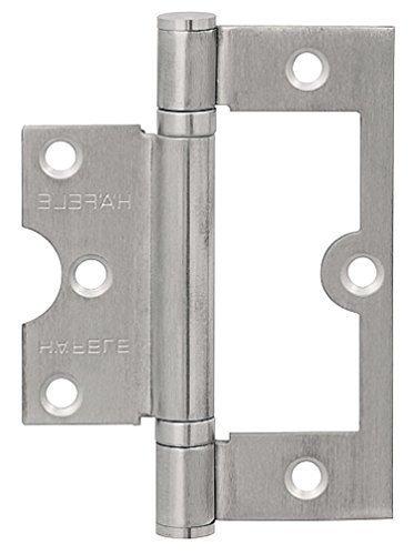 Preisvergleich Produktbild GedoTec® Türscharnier kugelgelagert SG01 Aufschraubscharnier Edelstahl matt rostfrei mit Edelstahlschrauben / Aufschraubband mit Tragkraft 60 kg / Höhe 102 mm / Materialstärke 2, 5 mm / Markenqualität für Ihren Wohnbereich