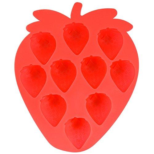 p Out Flexible Erdbeere Schokolade Backen Ice Cube Seife Puddingform Tablett Weich BPA-frei- und Lebensmittelqualität Fruit wiederverwendbar Neuheit (Neuheit Wiederverwendbare Ice Cubes)