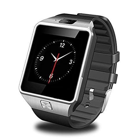 GSTEK Bluetooth Smartwatch Armbanduhr Handy-Uhr Smart Watch Uhr mit Kamera Schrittzähler Unterstützungs TF / SIM Karte für Android Samsung, HTC, Sony, LG, Blackberry,