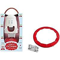 Talisman Designs Cherry Chomper Cherry Pitter with Adjustable Pie Crust Shield BPA-free Silcone, Red by Talisman Designs