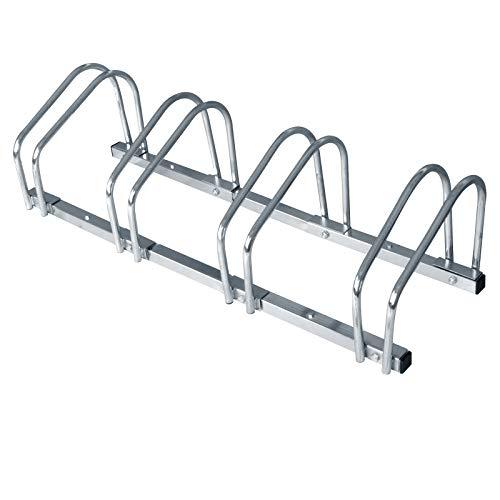 WOLTU Fahrradständer 4 Fahrräder Ständer Mehrfachständer Mehrfach-Fahrradständer für 4 Fahrräder FZ1132m3 -