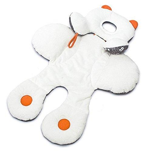 Cojin reductor con orejitas para cochecito de bebe carritos y asiento reversible acolchado con soporte para la cabeza de OPEN BUY