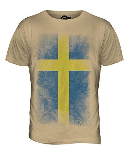 CandyMix Schweden Verblichen Flagge Herren T Shirt Sand