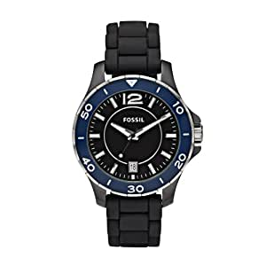 Fossil Ladies Black/Blue Analoge Ceramic Watch - Ce1036