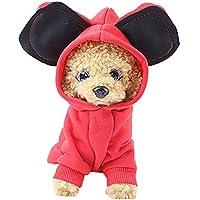 Ropa para Mascotas Gusspower Sudadera con Capucha Color sólido con Lindas Orejas Grandes suéter Perrito Ropa de Invierno Abrigo Espesar