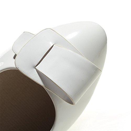 BalaMasa, punta arrotondata, con linguetta di estrazione, in pelle, per scarpe e pompe Bianco (bianco)