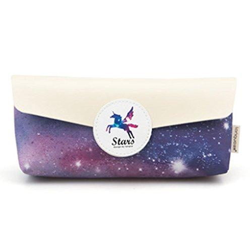 Lila Fancy Sternenhimmel Große Kapazität Bleistift Taschen Bunte Stiftehalter