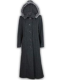 Damen Mantel Wollmix Kaschmir Damen Jacke Kapuze Kunstfell Lang Modisch  Warm Neu, c18a4ca256