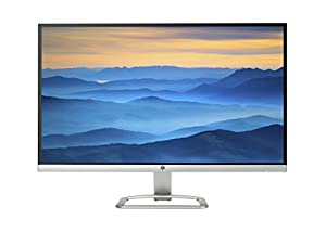 HP 27es T3M86AA 68,58 cm (27 Zoll) Monitor (VGA, HDMI, 7ms grau zu grau Reaktionszeit) schwarz/silber