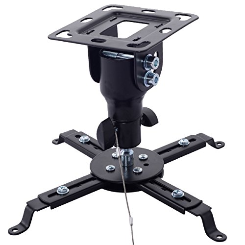 Tangkula Universal Tilt Ceiling Projector Mount Metal Bracket DLP LCD 360 Swivel 33lbs