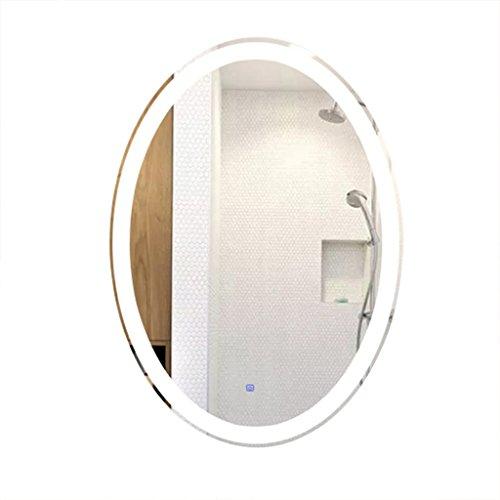 Badezimmerspiegel oval Beleuchteter Spiegel LED Wohnzimmer Ganzkörperspiegel Wand-Make-up Spiegel...