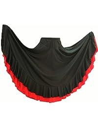 Jupe Flamenco de Danse flamenca Gitane andalouse Noir Rouge Adulte 49b492279c5