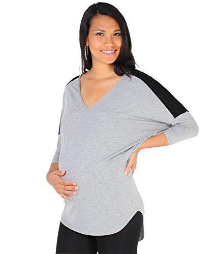 Krisp t-shirt premaman [grigio,large ]
