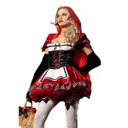 (Für Damen: Sexy Fantasy Little Red Riding Hood-Kostüm Outfit Märchen Erwachsene UK 6-16)