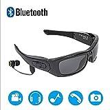 Occhiali da Sole Bluetooth Occhiali Polarizzati HD 720P Registratore con Lettore Musicale Staccabile 480MAH Batteria al Litio Sport all'Aria Aperta DV