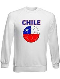 ee6a34e44 Sudadera por Hombre Blanco T0705 Chile Calcio Ultras