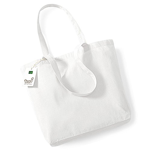 Westford Mill borsa shopper in cotone organico, lunghezza manico 58 cm
