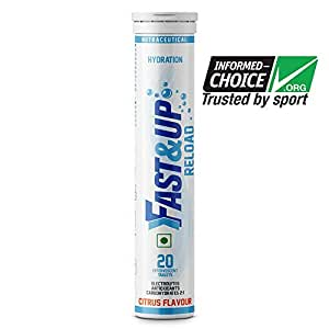 Fast&Up Reload Electrolyte Instant Hydration Sports Drink - 20 Tablets (Citrus)