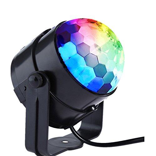 LED Disco Licht Bühnenbeleuchtung Party licht Beleuchtung-Coidea 7 Farbe RGB Led Effekt DJ Licht Diskokugel Lampe Sprachsteuerung für Disco, Geburtstag party,Xmas,Hochzeit, KTV(ohne Fern)
