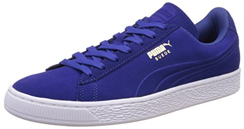 Puma Unisex Adults  Suede Classic Debossed Q3 Trainers  Blu  Mazarine Blue   7 5 UK