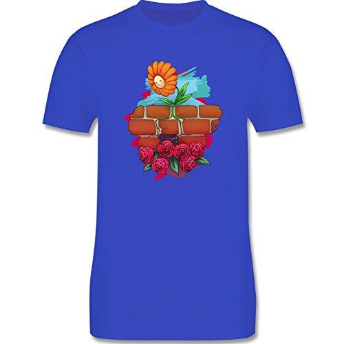 Statement Shirts - Mauerblümchen - Herren Premium T-Shirt Royalblau