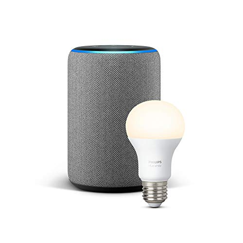 All-new Echo Plus (2nd Gen), Heather Grey + Philips Hue White bulb E27