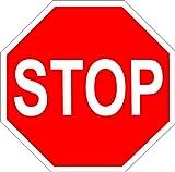 Schild STOP/Stopschild 40 cm 8-eckig Alu-Verbund