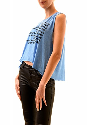Wildfox Femme Warm Nights Chad Tank Top Azure Bleu