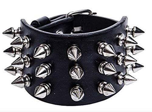 Leder Armband mit 1-5 Reihen Killer Nieten besetzt viele Modelle (3 Reihen) ()
