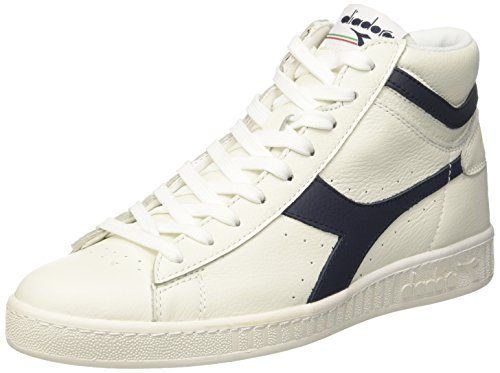 Diadora Game L High, Baskets Hautes Homme Blanc Cassé (Bianco/blu Mar Caspio/bianco)
