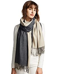 MaaMgic Womens Super Soft Cashmere Feel Pashminas Large Winter Shawl Wraps Two-Tone Blanket Scarf Stoles Warm...