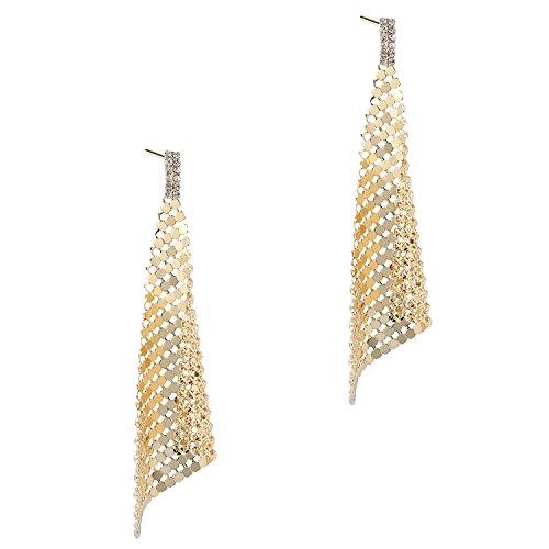 BABEYOND Damen Ohrringe überzogene Messing Pailletten Ohrringe Art Deco Damen Modeschmuck Accessoires 3.74