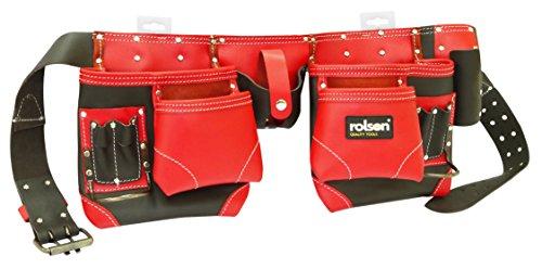 Rolson 68875rot Leder doppelte Werkzeug Gürtel–Schwarz