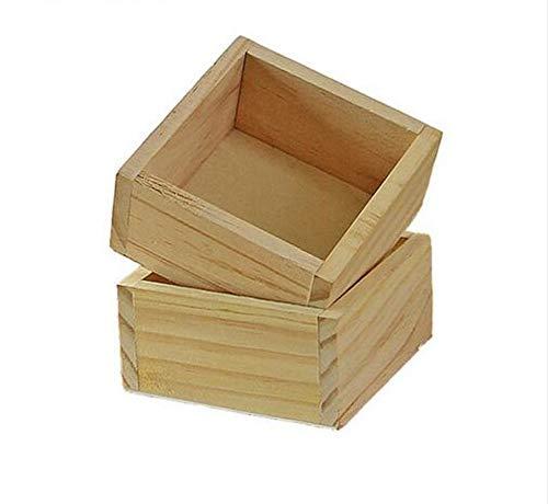 Kosmetiketui Kulturbeutel 2 Teil/Satz Platz Holz Aufbewahrungsbox Fall Jewlery Halter Kosmetik Make-Up Box Organizer Sukkulenten Töpfe Pflanzer Bonsai Fall