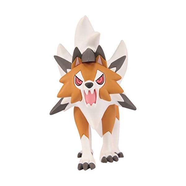 "Takara Tomy Pokemon Collection EX Moncolle ESP_15 Dusk Form Lycanroc 3"" Figure 2"