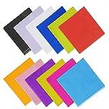 yotako 120Stück Cocktail Getränke Servietten Farbe Servietten Papier, 2-lagig für kleine Geschenke 12verschiedene Farben