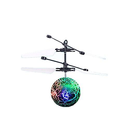 Vi.yo RC Fliegen Ball Novel Cracked Ball Sensor Flugzeug Hand Suspension Hubschrauber Fliegen Spielzeug für Kinder und Teenager -