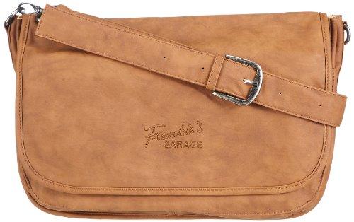 Frankie's Garage  Ladies Messenger Bag,  Borsa messenger donna, Marrone (Braun (cognac 022)), 36x28x11 cm (B x H x T)