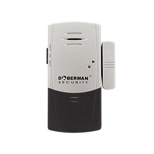 Alarma casa, WER alarma antirrobo de Multi-modo(Timbre y Alarma) y doble seguro alarma delgada magnético sensor de vibración para ventanas y puertas