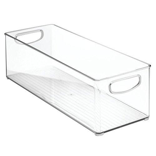 Kitchen Binz Aufbewahrungsbox, extragroßer Küchen Organizer aus Kunststoff, lange Box, durchsichtig (Kuchen-boxen)