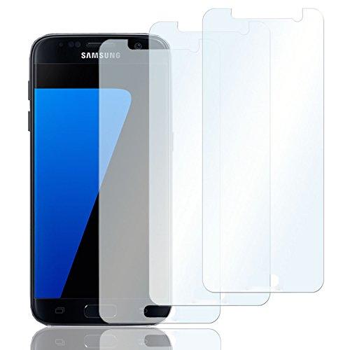 Eximmobile 3X Schutzfolien für Samsung Z3 Folie | Bildschirmschutzfolie | Bildschirmfolie Schutzfolie | selbstklebend | transparent | blasenfrei | kein Glas | Flexible Folien