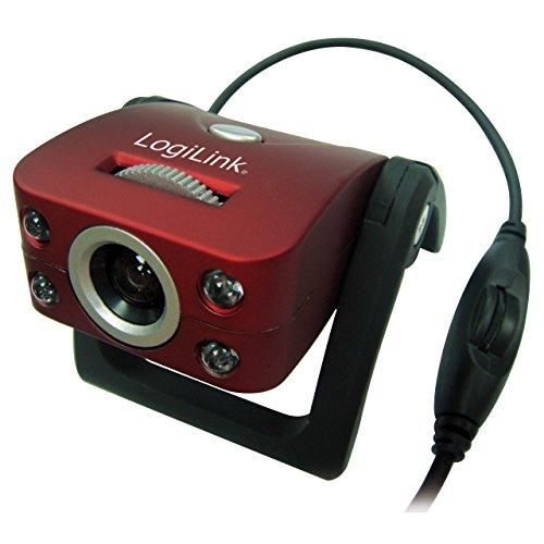 LogiLink Webcam USB 300k CMOS Sensor (interpoliert 8Mpixel) mit LED und Mikrofon