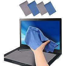 Wisdompro®, confezione da 8, 4 pezzi, panno di pulizia in microfibra per lenti fotocamera, vetro, lenti, cellulare, iPhone, iPad, Tablet, Laptop, TV LCD, per schermo Computer, Monitor e altri superfici Delicate