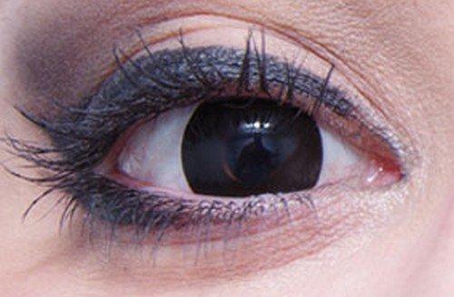 1 Paar Farbige Kontaktlinsen Schwarz