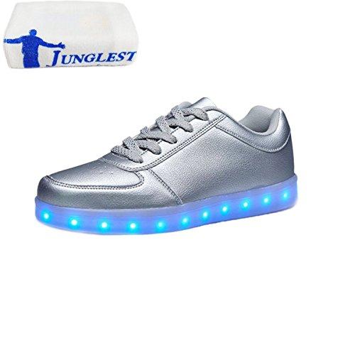 Schuhe Farbe Sportschuhe Unisex Handtuch junglest Für Sneaker Silber Led Leuchtend kleines Aufladen Walkingschuhe present erwac Usb Sport Turnschuhe 7 PvIn1xaq