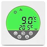SM-PC®, Digital Thermostat Raumthermostat Fußbodenheizung Wandheizung LED grün #a35